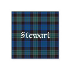 "Tartan - Stewart Square Sticker 3"" x 3"""