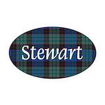 Tartan - Stewart Oval Car Magnet