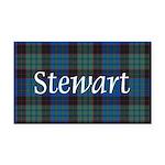 Tartan - Stewart Rectangle Car Magnet