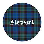 Tartan - Stewart Round Car Magnet