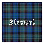 Tartan - Stewart Square Car Magnet 3