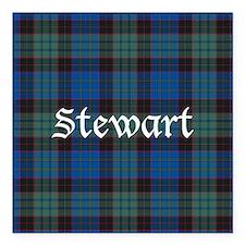 "Tartan - Stewart Square Car Magnet 3"" x 3"""