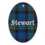 Tartan - Stewart Ornament (Oval)