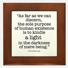 'To kindle light' by Carl Jung Framed Tile