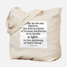 'To kindle light' by Carl Jung Tote Bag