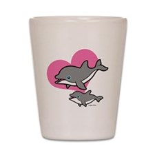 Dolphins (3) Shot Glass