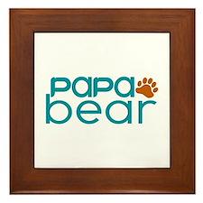 Matching Family - Papa Bear Framed Tile