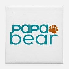 Matching Family - Papa Bear Tile Coaster