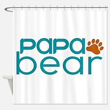 Matching Family - Papa Bear Shower Curtain