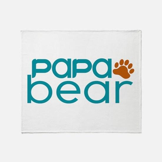 Matching Family - Papa Bear Throw Blanket
