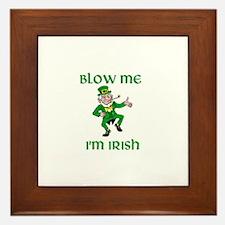 Blow Me I'm Irish Framed Tile