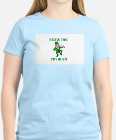 Blow Me I'm Irish Women's Pink T-Shirt
