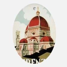 Vintage Firenze Italy Church Duomo Oval Ornament