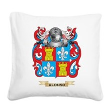 Alonso Coat of Arms Square Canvas Pillow