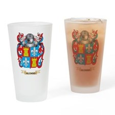 Alonso Coat of Arms Drinking Glass