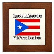 Puerto Rican Parts Framed Tile