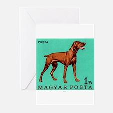 1967 Hungary Vizsla Dog Postage Stamp Greeting Car