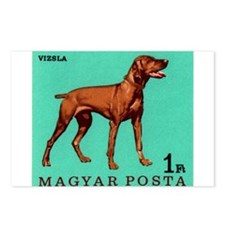 1967 Hungary Vizsla Dog Postage Stamp Postcards (P