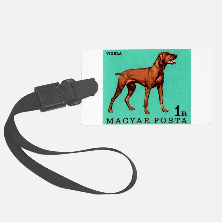 1967 Hungary Vizsla Dog Postage Stamp Luggage Tag