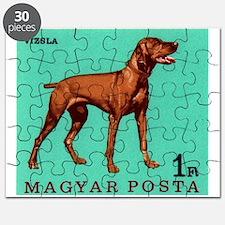 1967 Hungary Vizsla Dog Postage Stamp Puzzle