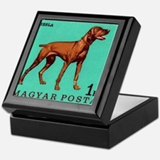 1967 Hungary Vizsla Dog Postage Stamp Keepsake Box