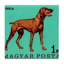 1967 Hungary Vizsla Dog Postage Stamp Tile Coaster