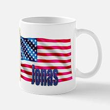 Jonas Patriotic American Flag Gift Mug
