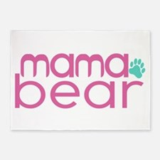 Mama Bear - Family Matching 5'x7'Area Rug