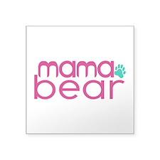 "Mama Bear - Family Matching Square Sticker 3"" x 3"""
