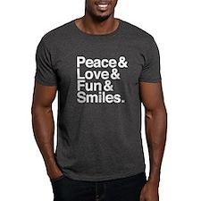 PeaceLoveFunSmiles_White T-Shirt