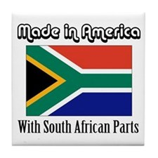 South African Parts Tile Coaster