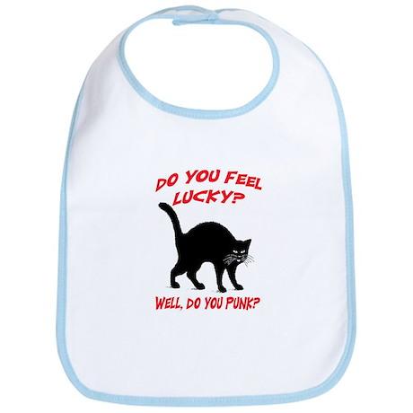 DO YOU FEEL LUCKY? (BLACK CAT) Bib