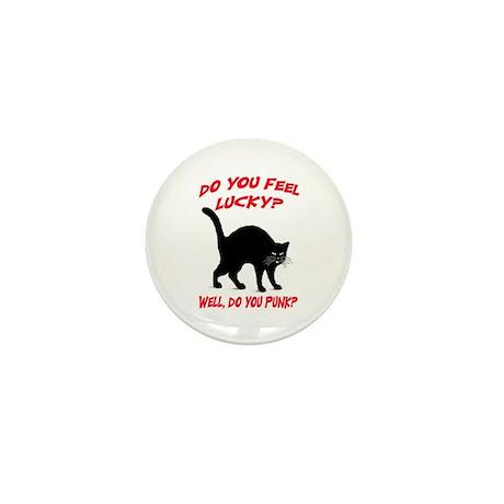 DO YOU FEEL LUCKY? (BLACK CAT) Mini Button