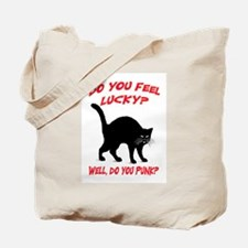 DO YOU FEEL LUCKY? (BLACK CAT) Tote Bag