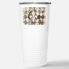 grunge fleur de lis on diamond  Travel Mug