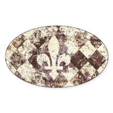 grunge fleur de lis on diamond back Bumper Stickers