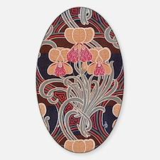 pretty bright art nouveau floral Decal