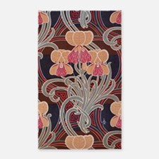 pretty bright art nouveau floral 3'x5' Area Rug