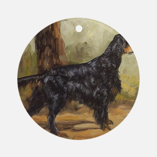 Gordon Setter Round Ornament