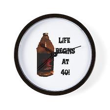 LIFE BEGINS AT 40 Wall Clock