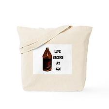 LIFE BEGINS AT 40 Tote Bag