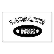 Labrador Mom Rectangle Decal