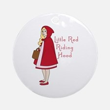 Red Riding Hood Ornament (Round)