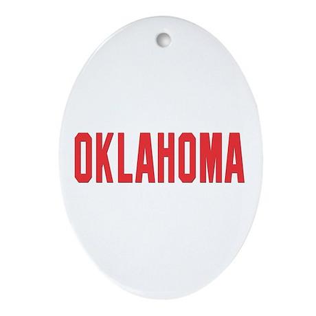 Oklahoma Oval Ornament