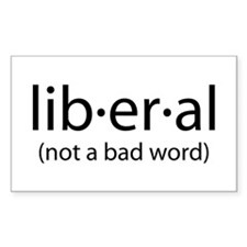 The Definition of Liberal Rectangle Decal