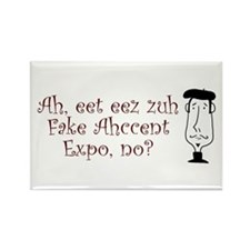 Fake Accent Expo Rectangle Magnet