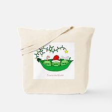 Peas to the World Christas Kitty Cat Peas Tote Bag