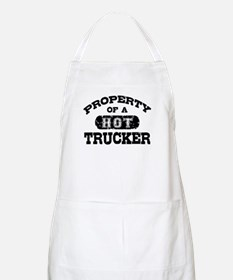 Property of a Hot Trucker Apron