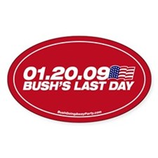 Bush's Last Day Oval Decal