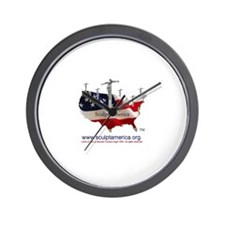 Sculpt America! Wall Clock